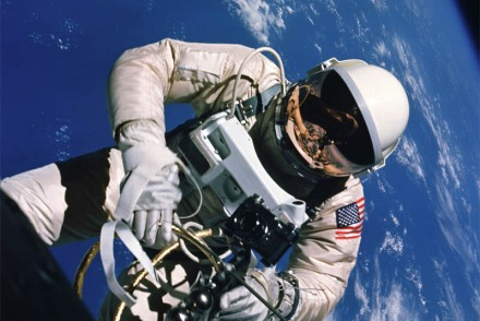 NASA Astronaut Edward H. White Conducting the First US EVA on June 3, 1965