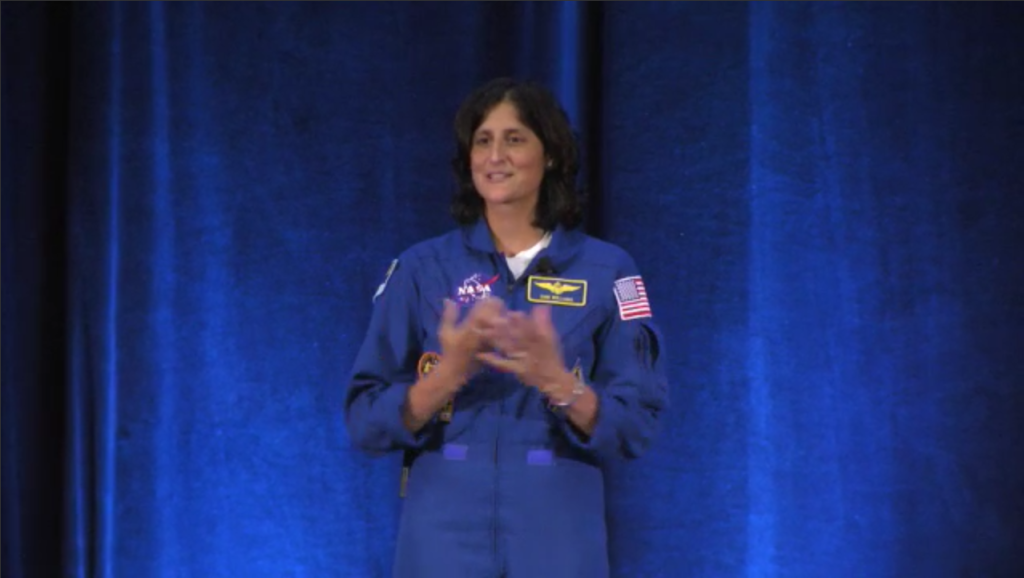 NASA Astronaut Sunita Williams presenting at ISSRDC 2015