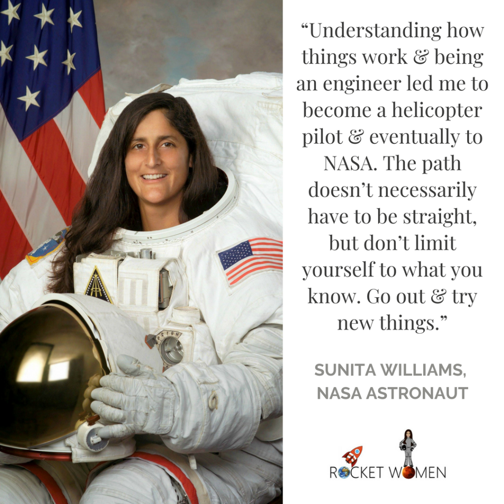 NASA Astronaut Sunita Williams's advice for budding astronauts! [NASA/Rocket Women]
