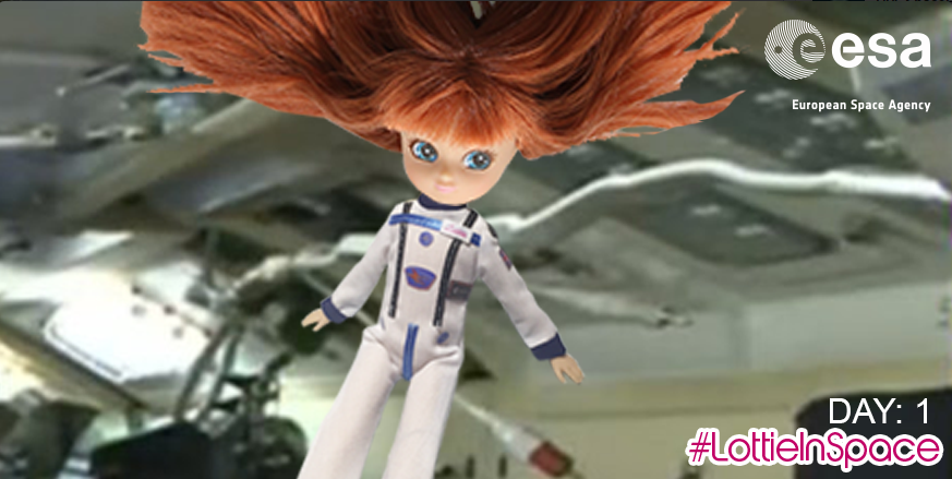A new photo of the Stargazing Lottie doll in space on the International Space Station (ISS) [22/12/15]