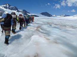 Photo of girls in the Alaska program from a trek [Image Copyright: University of Alaska Fairbanks - UAF]