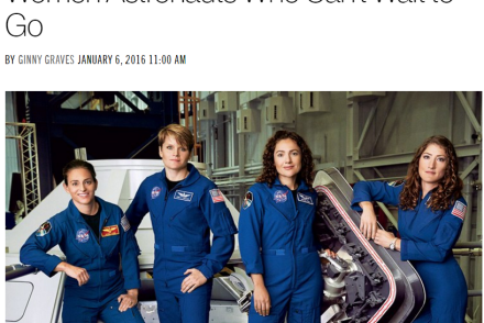 Fearless Women: NASA Astronauts From The 2013 Class. The Class With The Highest Proportion Of Women At 50% [Photo credit: Glamour magazine/Bjorn Iooss]