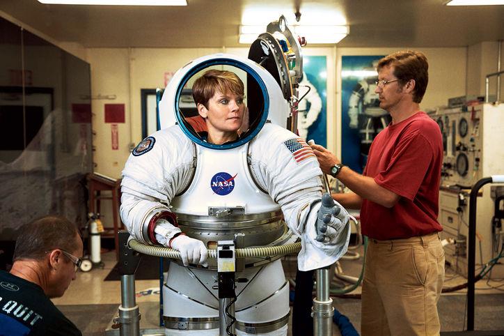 NASA Astronaut Anne McClain Wearing A New NASA Z-Series Spacesuit (EVA Suit)