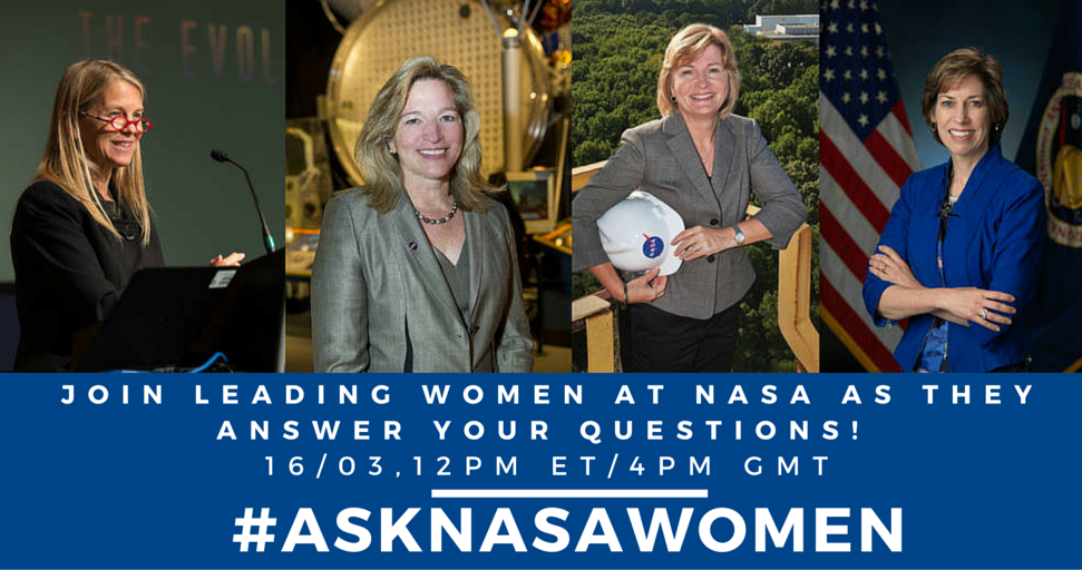 [L-R] NASA Deputy Director Dava Newman, Chief Scientist Ellen Stofan, Deputy Associate Administrator Lesa Roe and Johnson Space Center Director Ellen Ochoa will be answering your questions as part of Women's History Month [NASA]