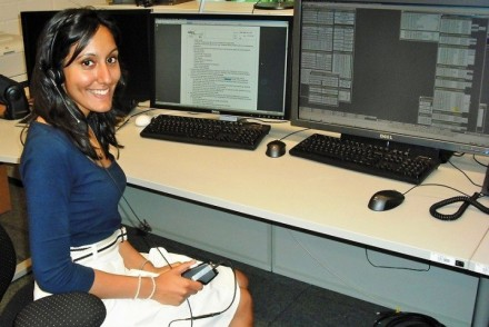 Vinita Marwaha Madill at the at DLR (German Aerospace Centre) in Cologne, Germany, working on ISS Operations