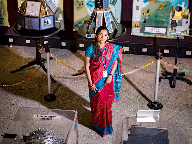 ISRO Scientist Nandini Harinath at ISRO's Satellite Centre in Bengaluru [Conde Nast Traveller]