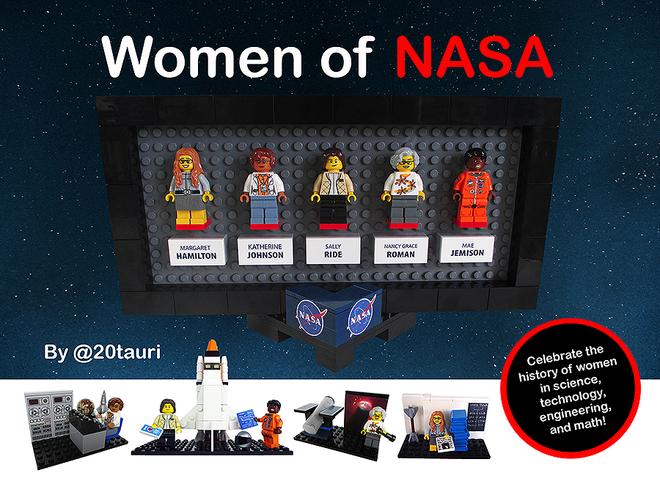 Inspirational Women Of NASA Lego Set [Lego Ideas]