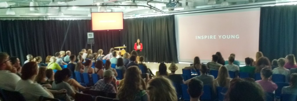 Vinita Marwaha Madill presenting 'How To Be A Rocket Woman' at the Bluedot Festival at Jodrell Bank, UK