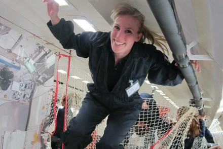 Susan Buckle taking part in a ZeroG flight!