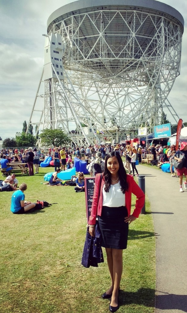 Vinita Marwaha Madill representing Rocket Women at the Bluedot Festival at Jodrell Bank in the UK!