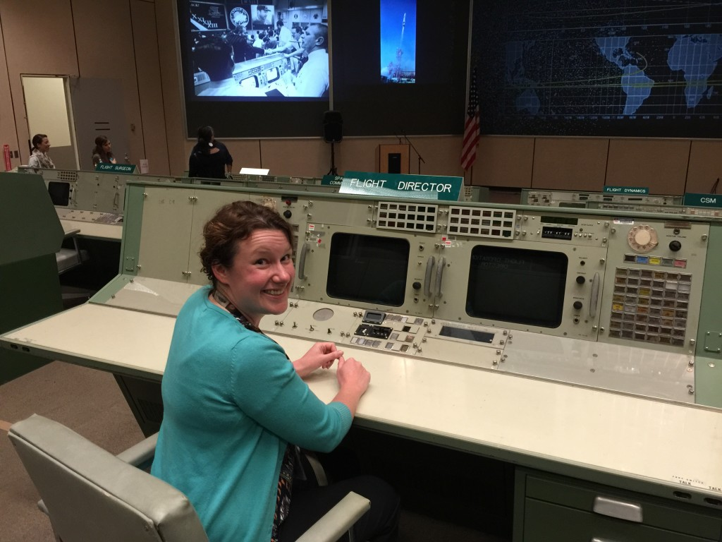 Ann Kapusta, ThinkSpace Consulting Co-Founder, at NASA Johnson Space Center's Mission Control