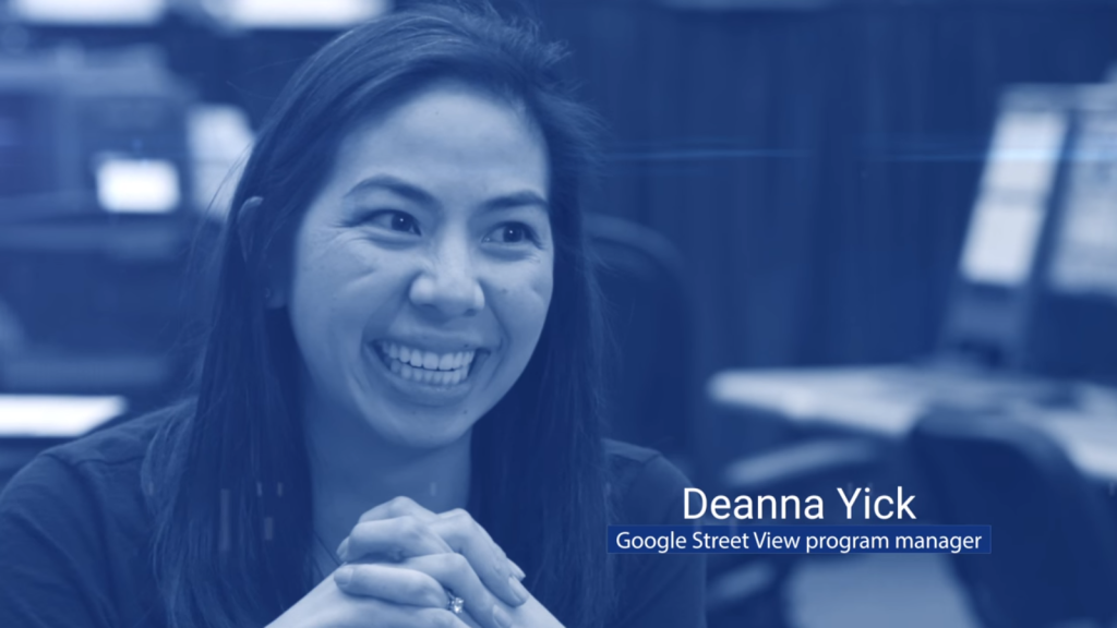 Deanna Yick. Google Street View Program Manager [Still from Behind the Scenes: Mapping the International Space Station with Google Street View https://youtu.be/IBTP62jd4DA]