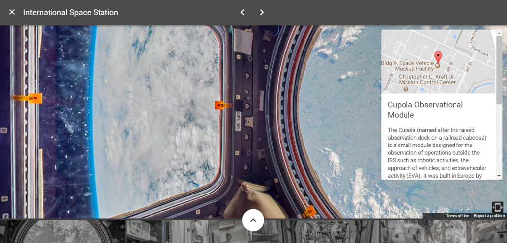 The stunning views from the International Space Station's Cupola module [Still taken from Google StreetView]