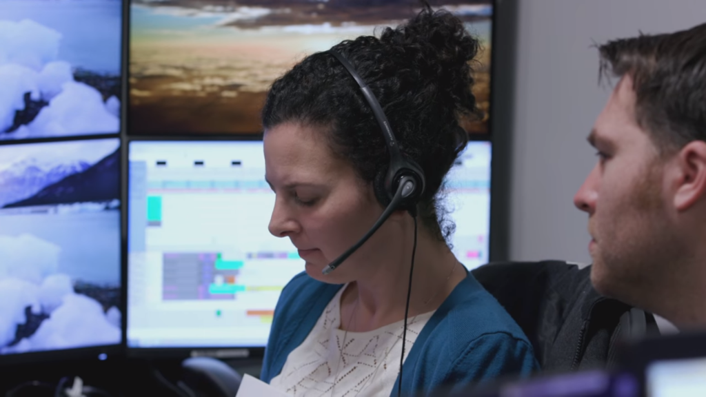 ThinkSpace Consulting Operations Engineer & Co-Founder Marla Smithwick communicating wtih ESA Astronaut Thomas Pesquet onboard the ISS