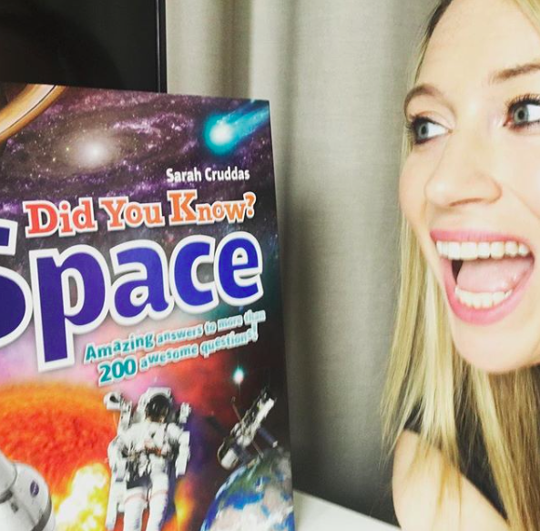 Sarah Cruddas with her second book, 'Did you know? Space!'