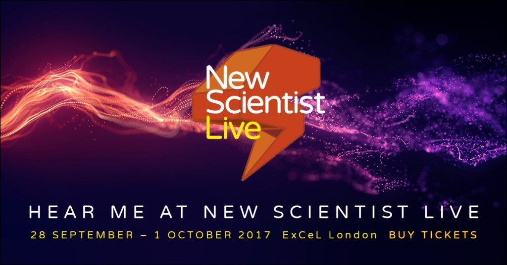 I'll be speaking at New Scientist Live 2017 about Dressing For The Moon: How To Design A Spacesuit [New Scientist]