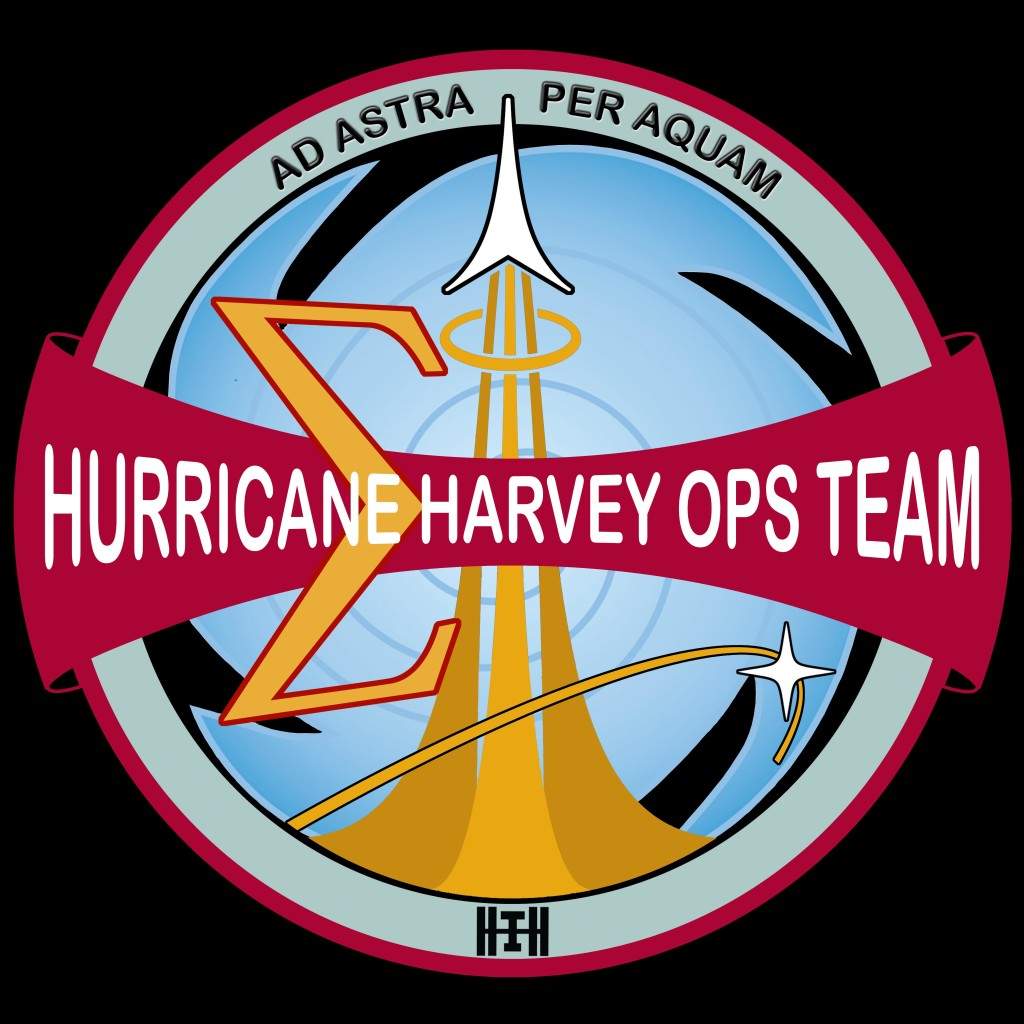 NASA's Hurricane Harvey Operations Team Mission Patch - designed by Fiona