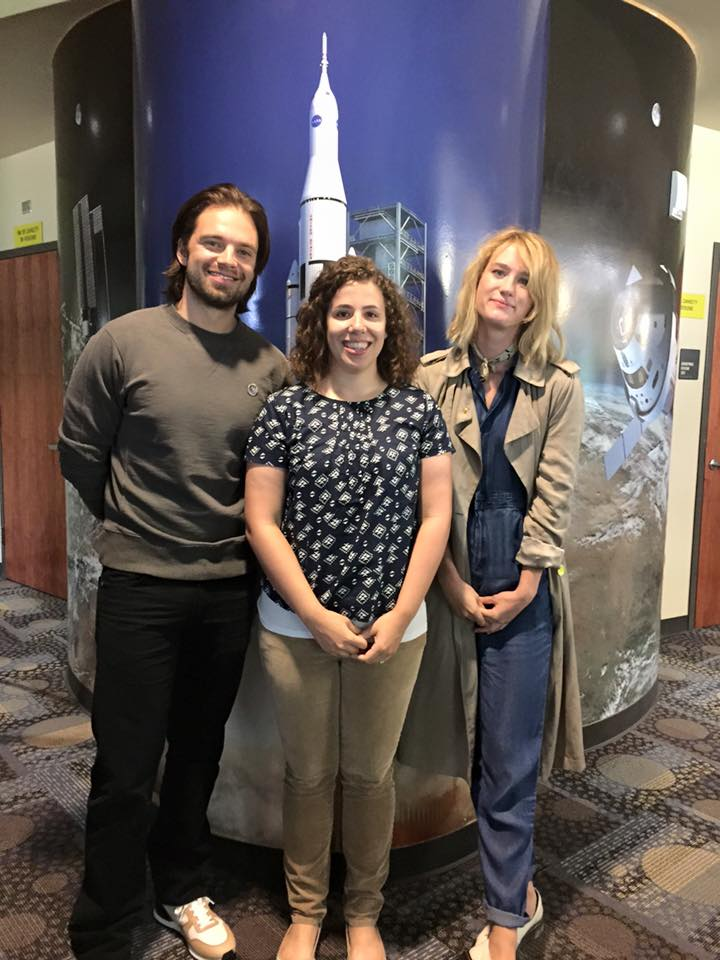 Natalie Meeting Actors from The Martian Movie at NASA Johnson Space Center
