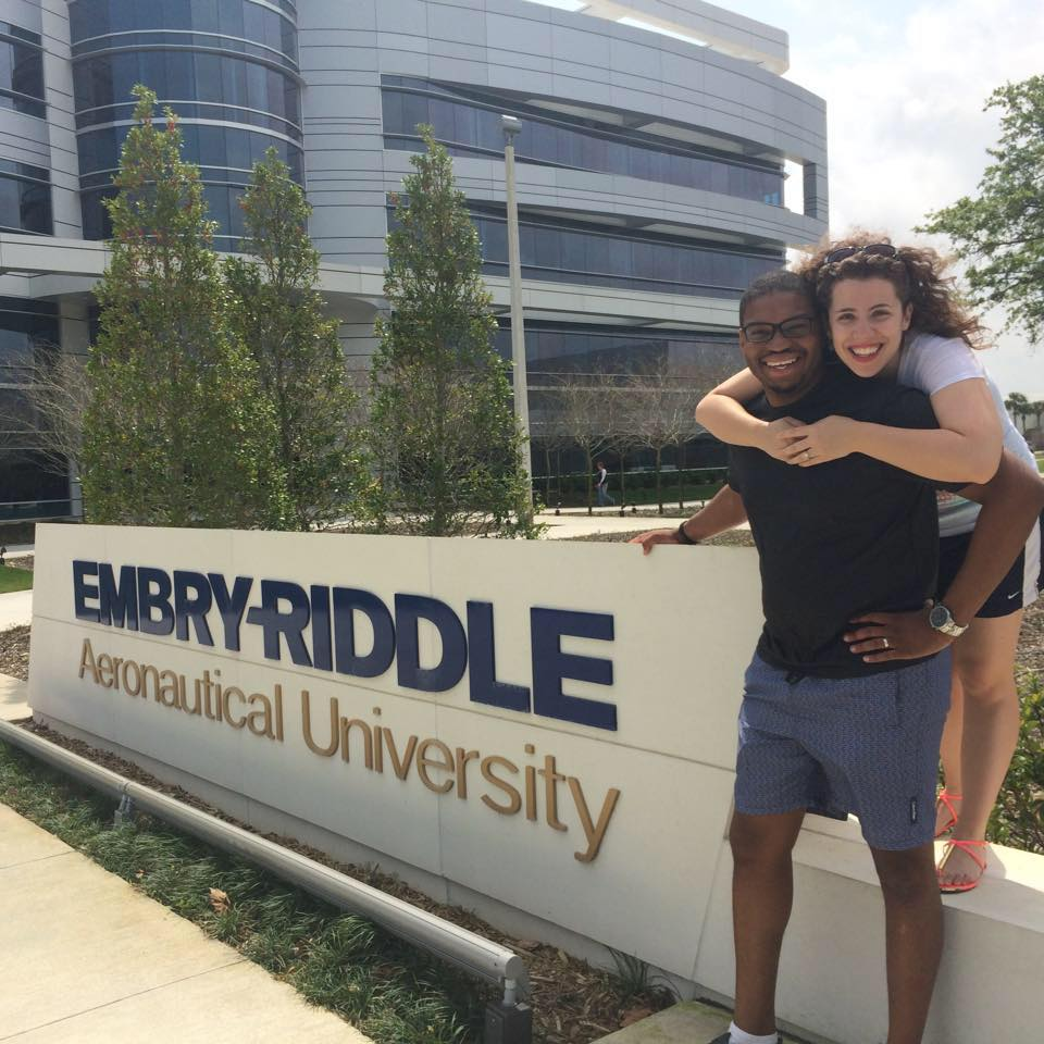 Natalie With Her Husband Loren At Their College