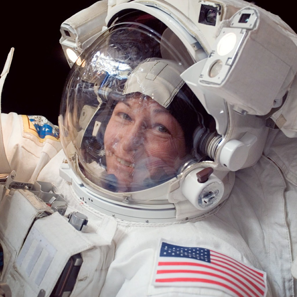 NASA Astronaut Peggy Whitson During A Spacewalk or EVA (Extra-Vehicular Activity) (Source: NASA)