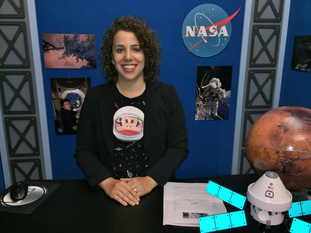 Natalie Talking To Elementary School Students Through Videochat