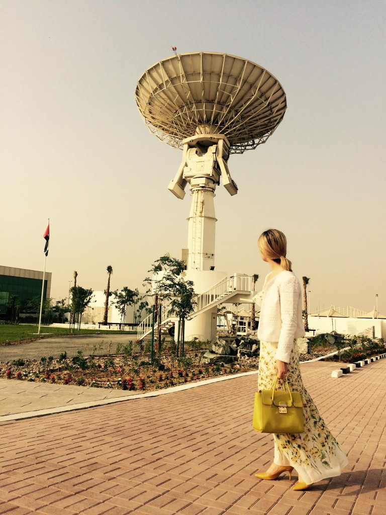 Olga at a conference in the UAE