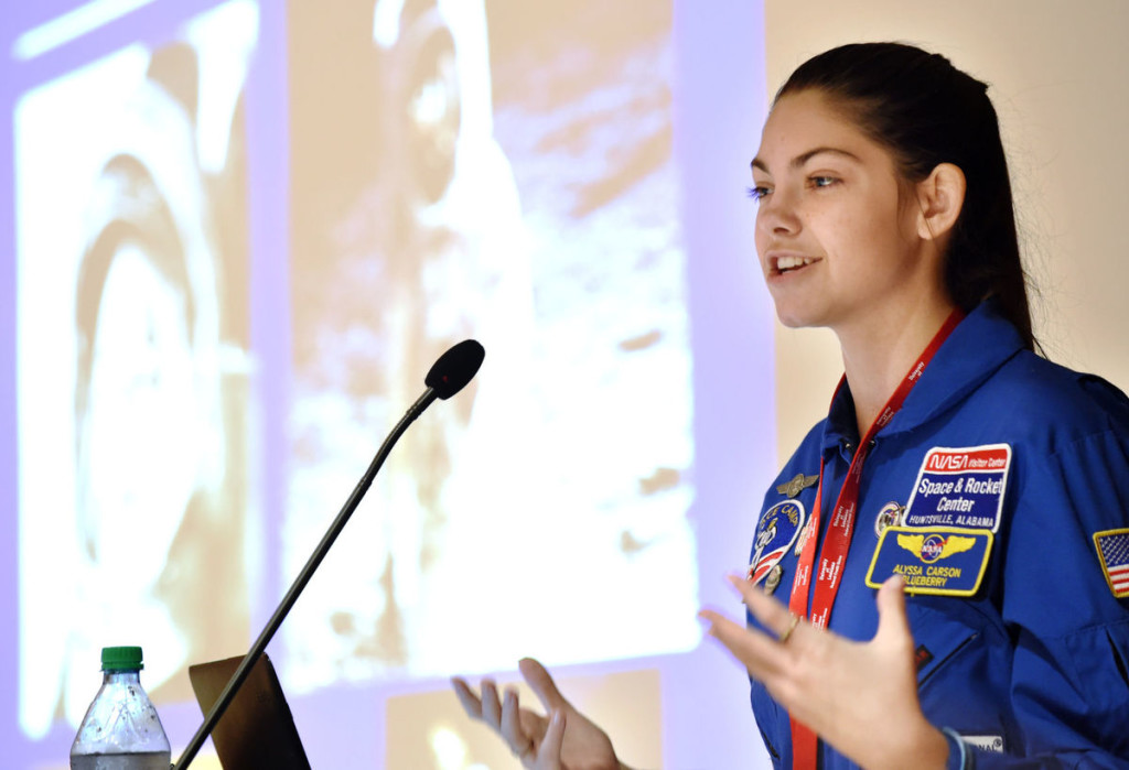 Alyssa Carson speaking about her drive to become an astronaut