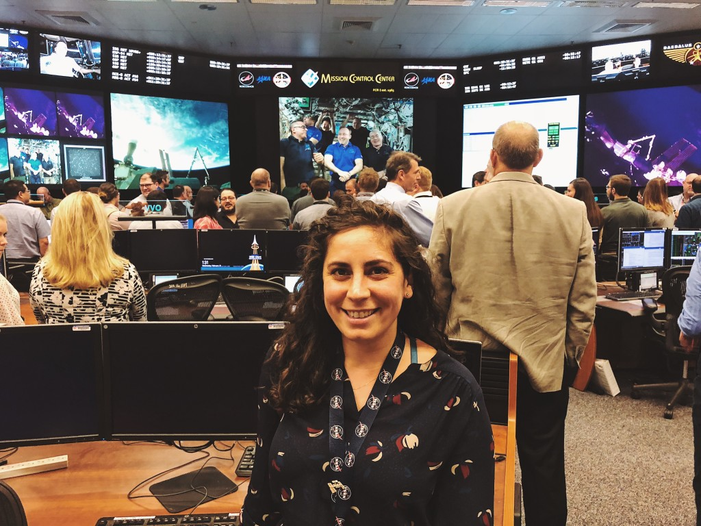 Kristen in NASA's ISS Mission Control Center