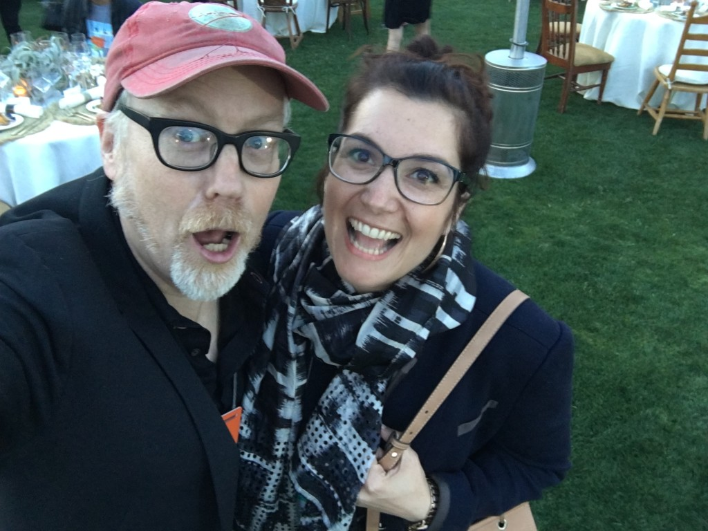 Chiara with Adam Savage from the TV show MythBusters at the Amazon MARS event