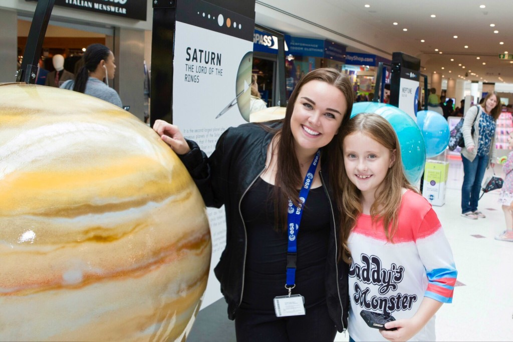 Bethany Downer carrying out space outreach