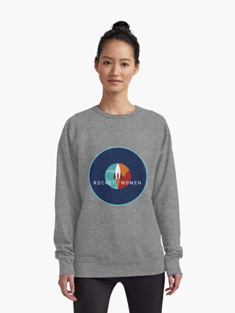 Rocket Women Patch Sweatshirt [Red Bubble/Marka Design]