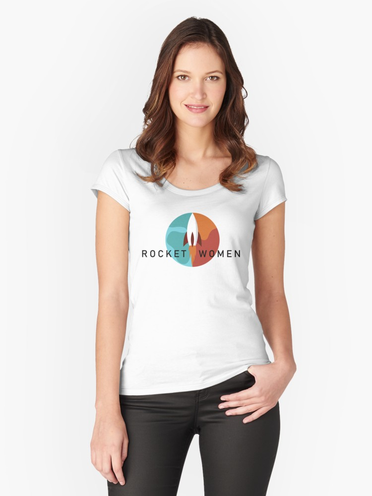 Rocket Women T-shirt [Red Bubble/Marka Design]