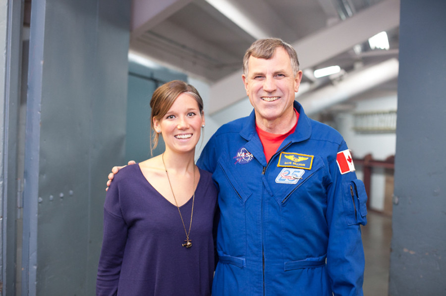 Natalie Panek with Canadian Space Agency Astronaut Dr. Dave Williams [Photo Credit M. Northcott]