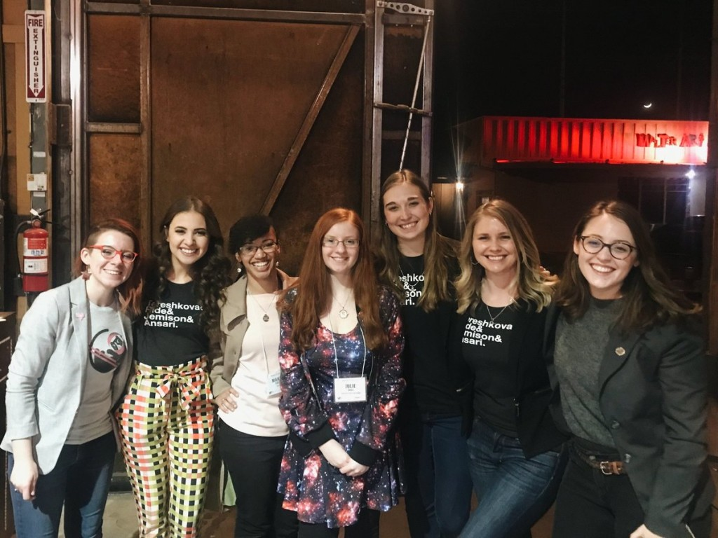 Luc Riesbeck attended the 2019 Women in Space Conference in February 2019 in Scottsdale, Arizona. They are pictured here with other conference attendees. [Luc Riesbeck]