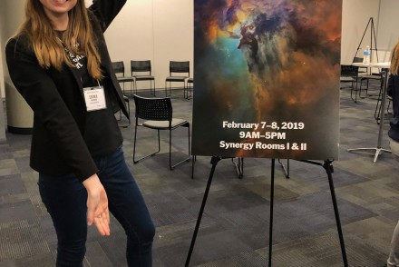 Emma Louden attended the 2019 Women in Space Conference in February 2019 in Scottsdale, Arizona. [Emma Louden]