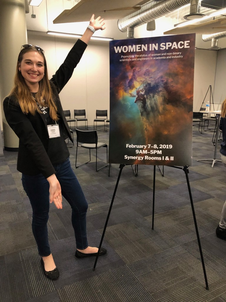 Emma Louden attended the 2019 Women in Space Conference in February 2019 in Scottsdale, Arizona. [Emma Louden]