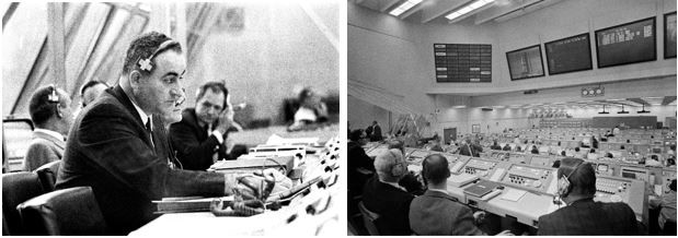 Rocco Petrone in the Launch Control Center (Apollo 9) Credit: NASA.