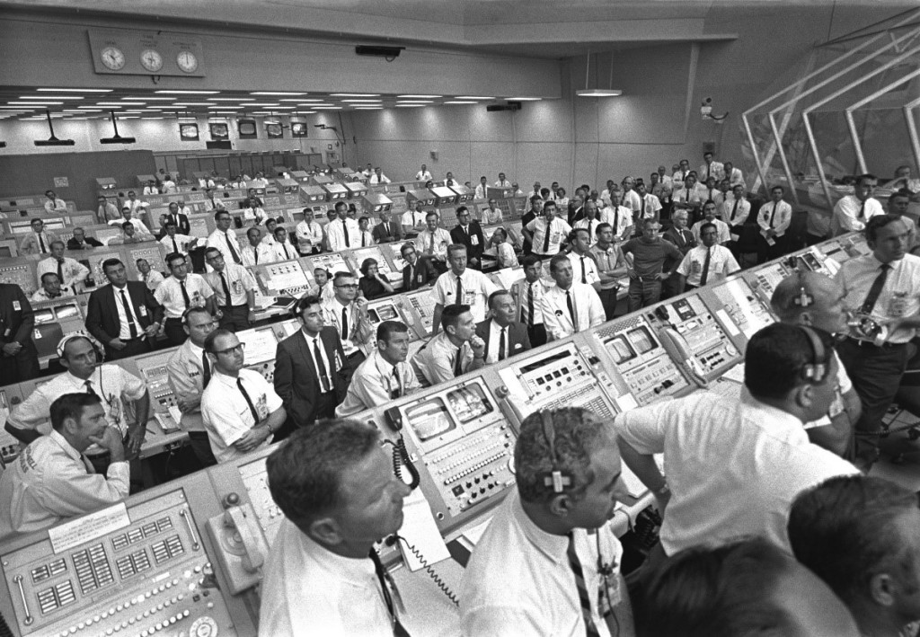 KSC Firing Room 1 for Apollo 11, post-launch. Credit: NASA [3].