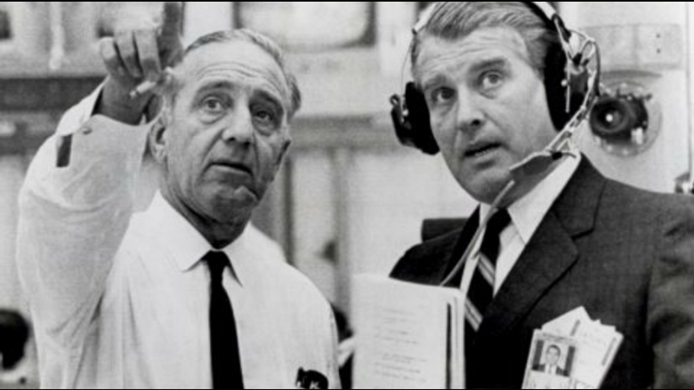 Dr. Kurt Debus (left) and Dr. Wernher von Braun (right). Credit: NASA.