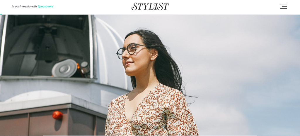Rocket Women Founder Vinita Marwaha Madill represents Rocket Women in Stylist Magazine x Specsavers feature (Image Copyright: Stylist Magazine)