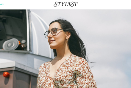 Rocket Women Founder Vinita Marwaha Madill represents Rocket Women in Stylist Magazine x Specsavers feature (Image Copyright: Stylist Magazine)